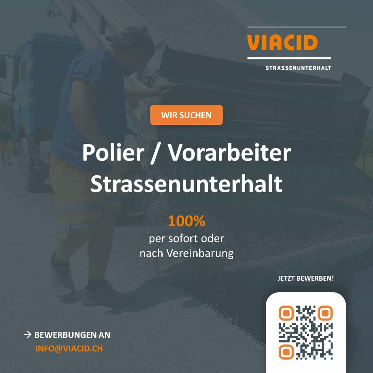 Wir suchen Polier / Vorarbeiter Strassenunterhalt (100%)